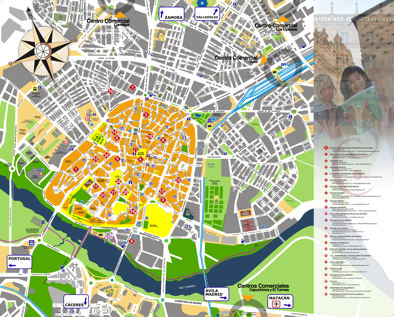 Salamanca Espagne Carte Ville