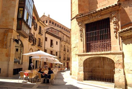Mapa del centro de Salamanca con monumentos en los que podrás picar para mostrar su foto