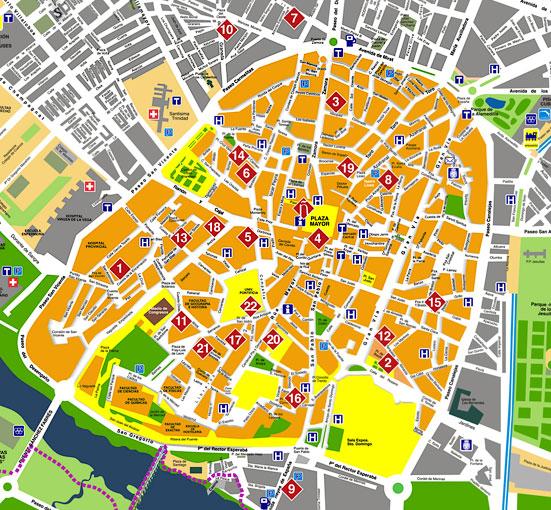 Mapa de salamanca ciudad my blog for Codigo postal del barrio de salamanca en madrid